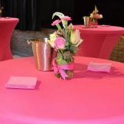Décoration table mange-debout