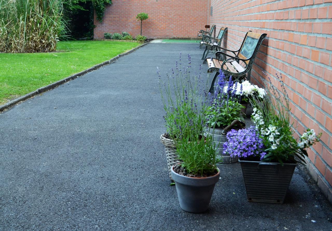 Décoration florale du jardin